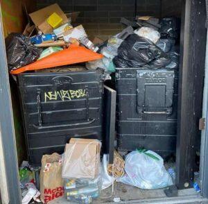 bins full of general waste