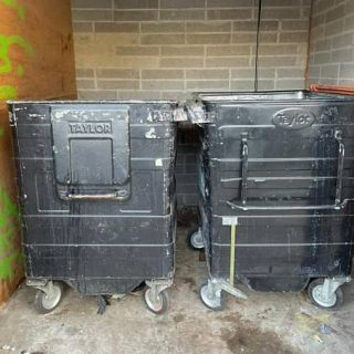 bins after waste collection