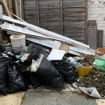 garden before clearing rubbish